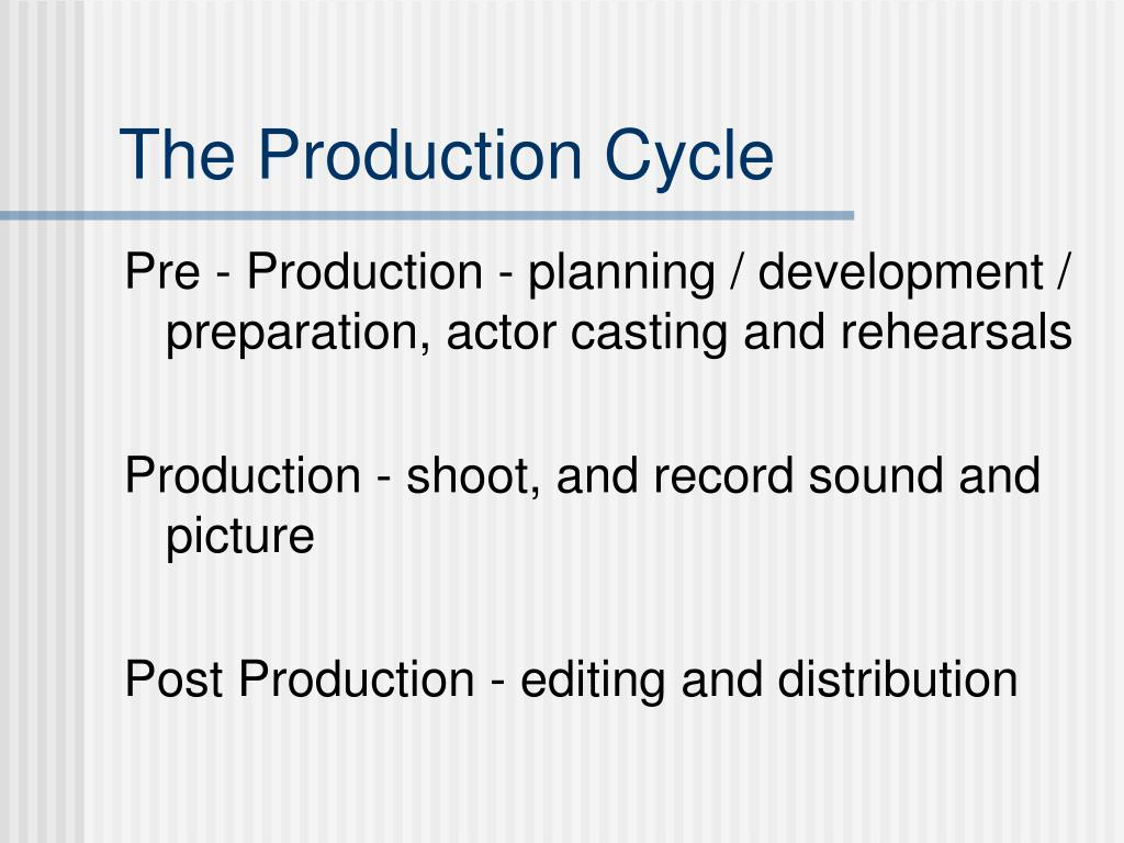 The Production Cycle