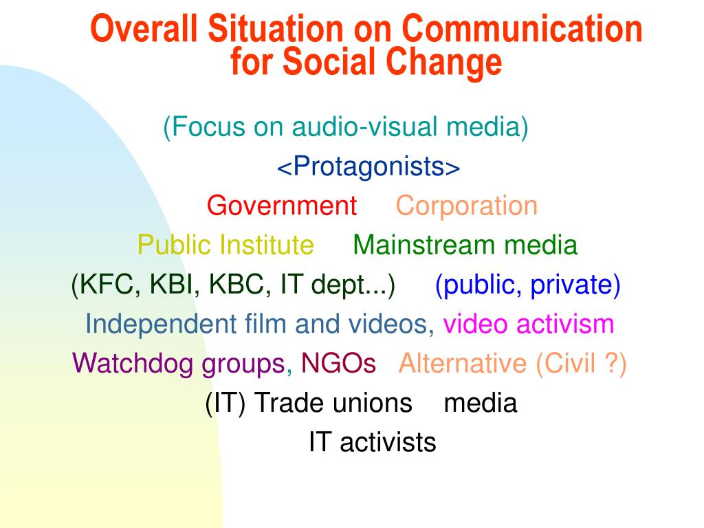 Overall Situation on Communication for Social Change