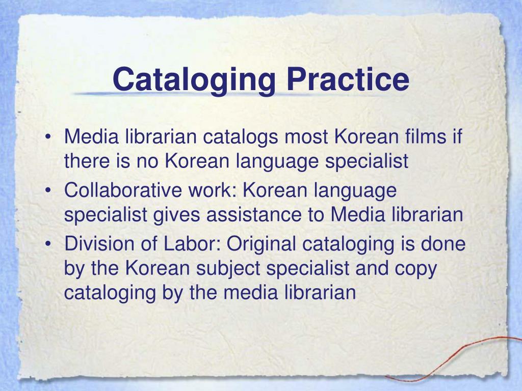Cataloging Practice