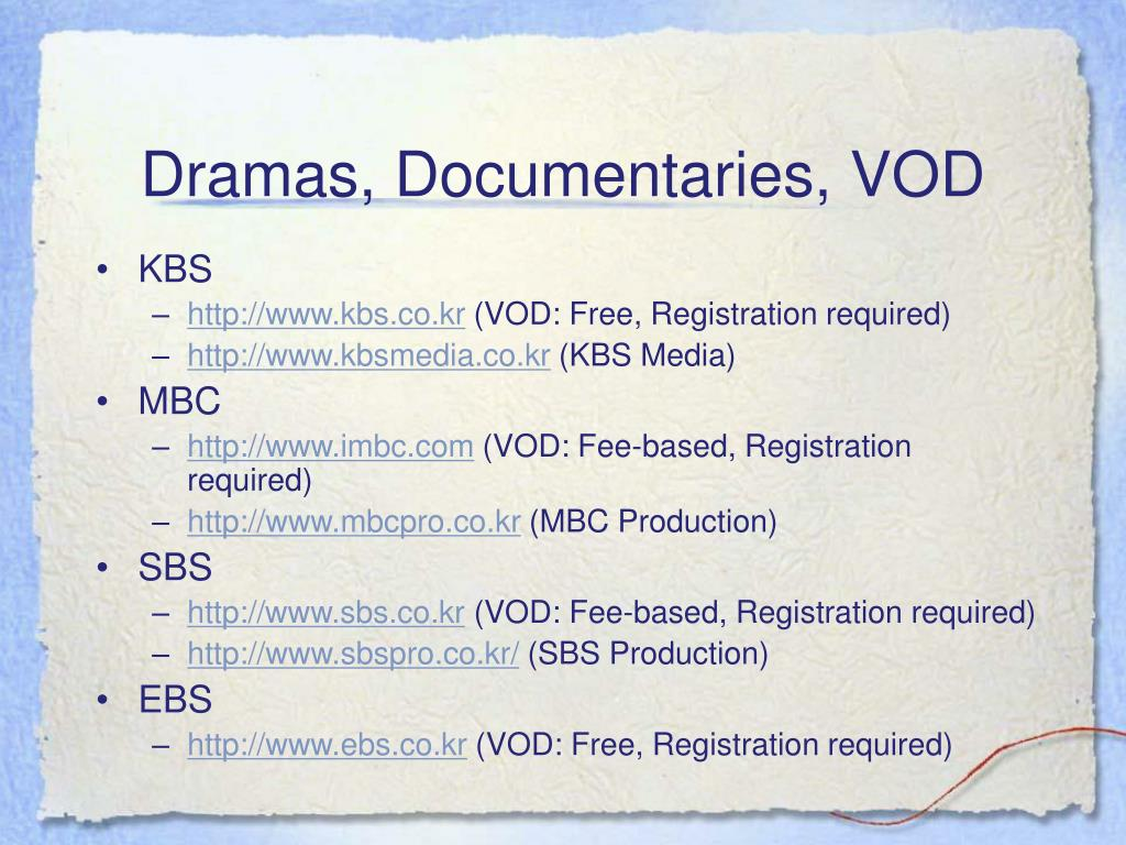 Dramas, Documentaries, VOD