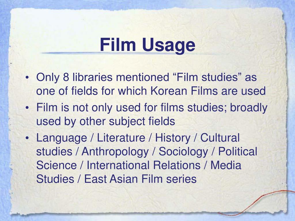 Film Usage
