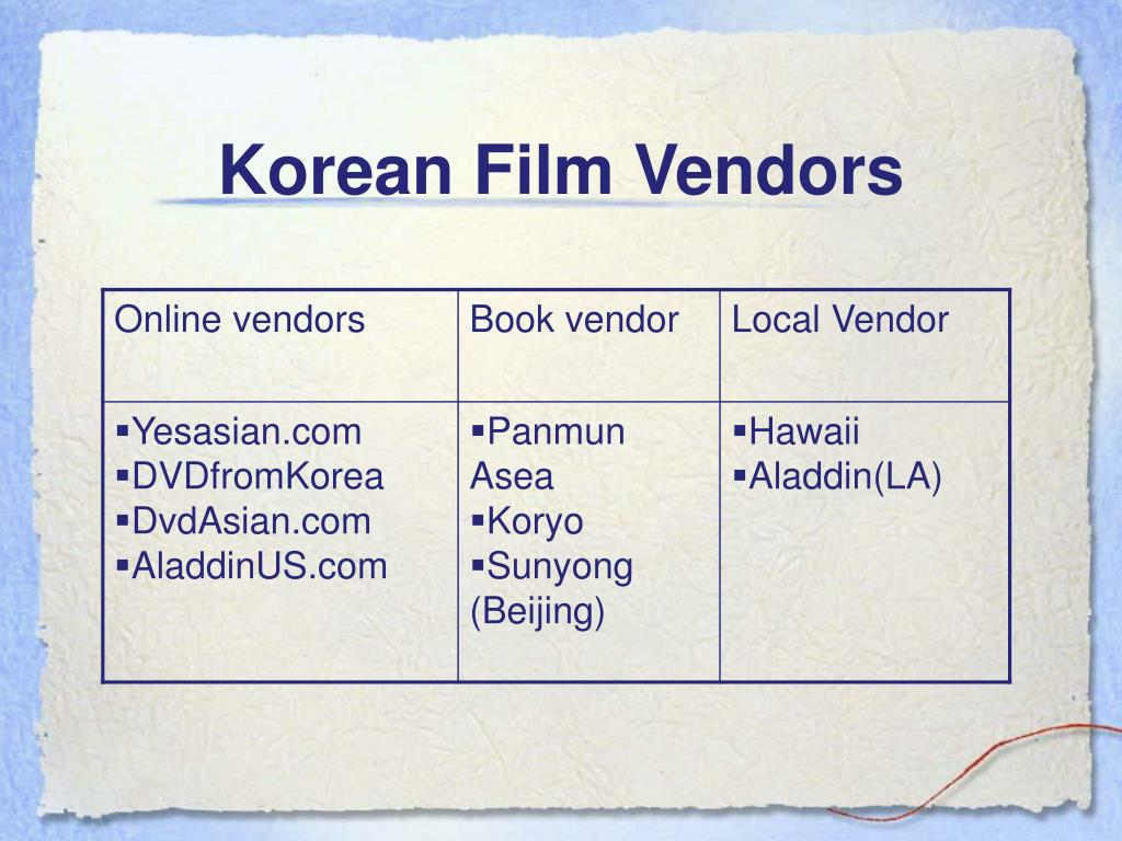 Korean Film Vendors
