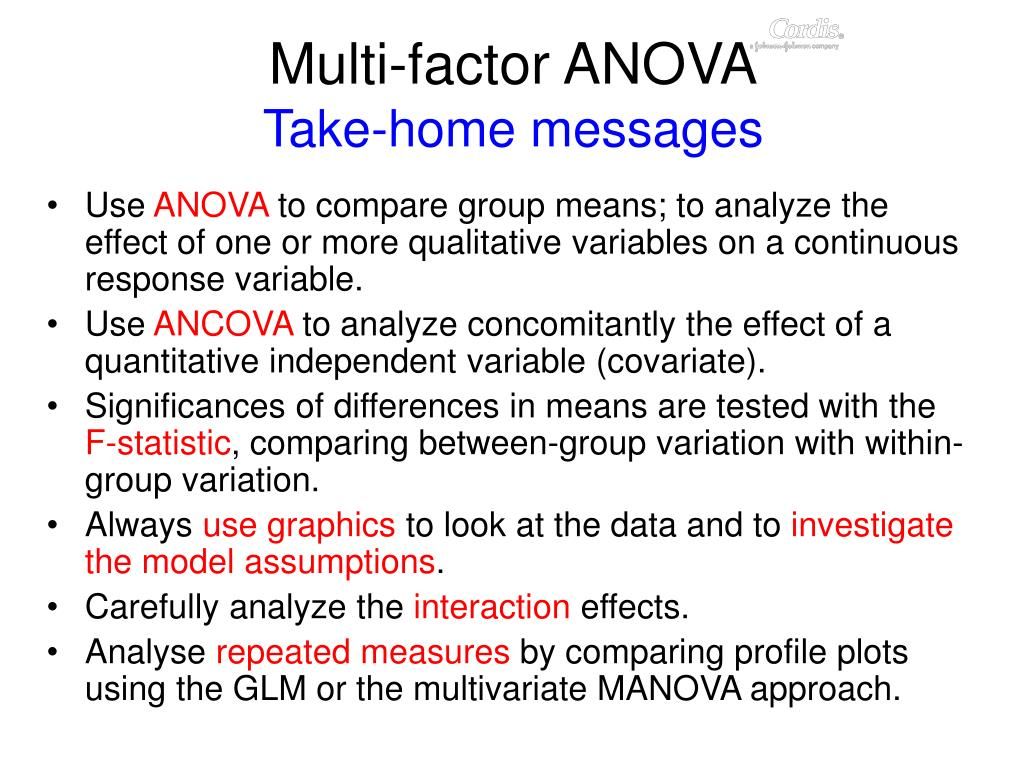 Multi-factor ANOVA