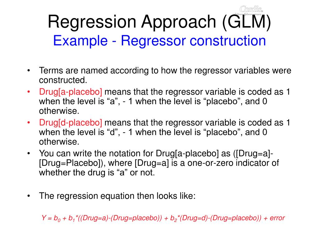 Regression Approach (GLM)