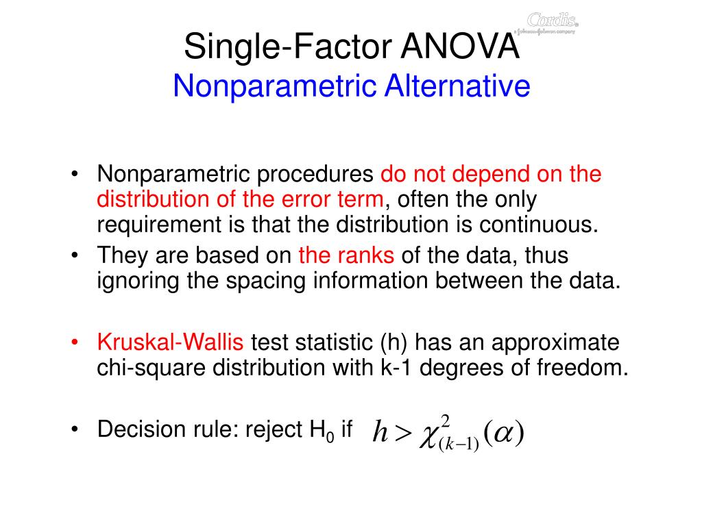 Single-Factor ANOVA