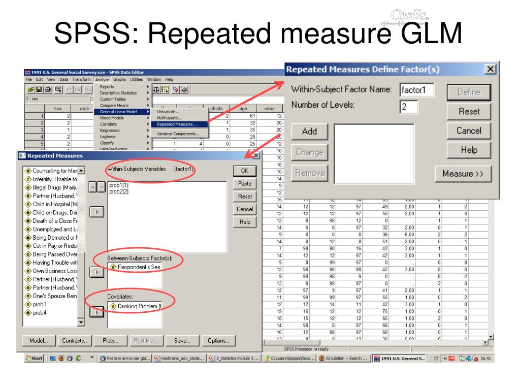 SPSS: Repeated measure GLM