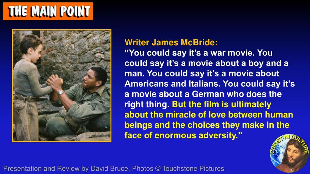 Writer James McBride: