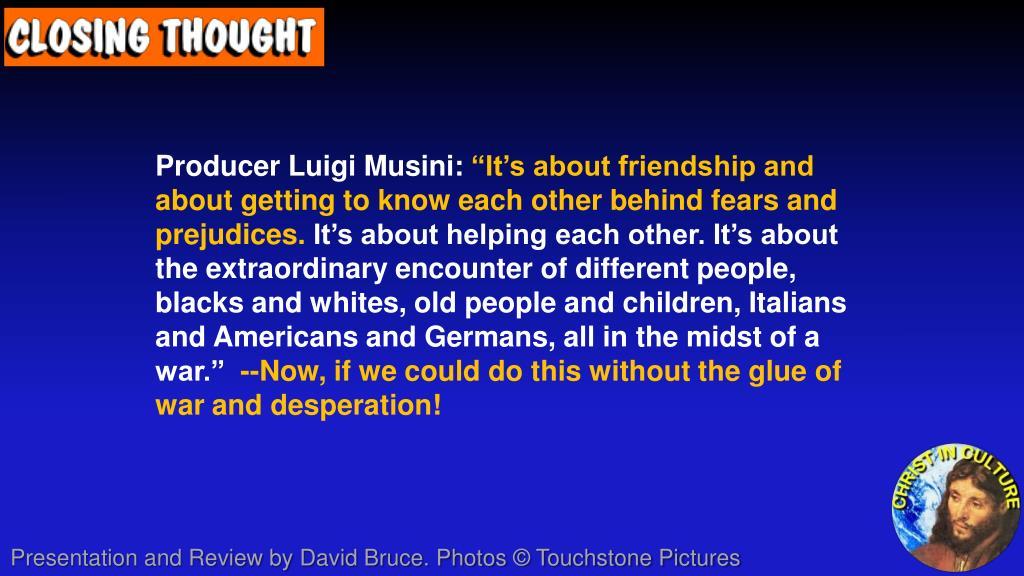 Producer Luigi Musini: