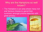 why are the hamptons so well known