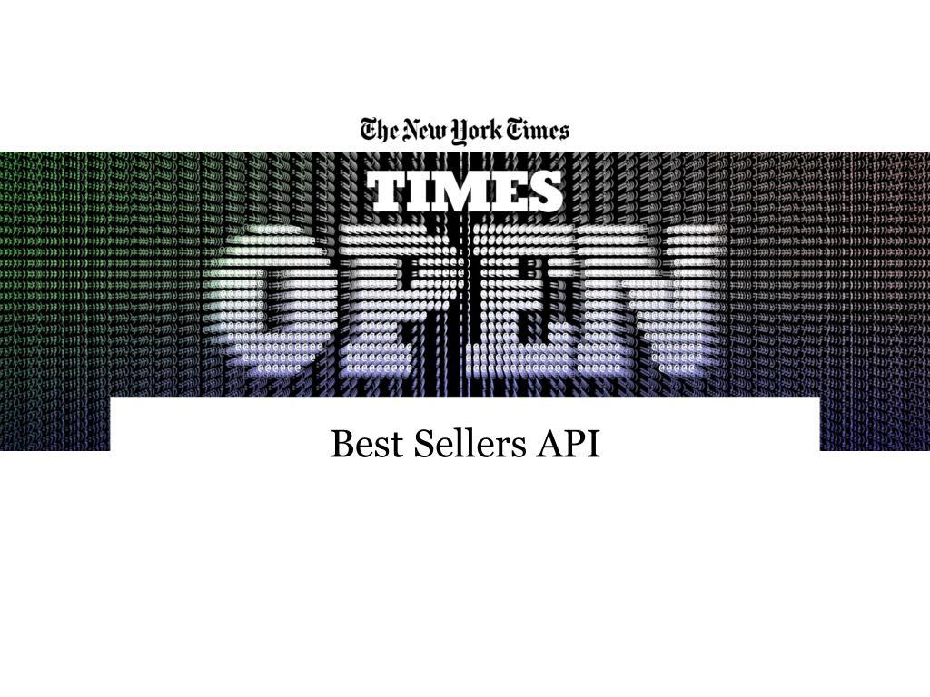 Best Sellers API