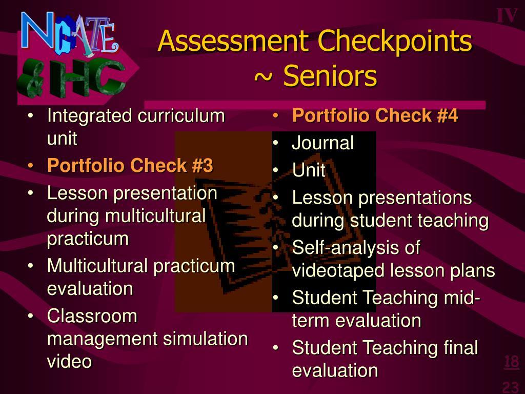 Integrated curriculum unit