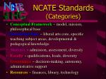 ncate standards categories