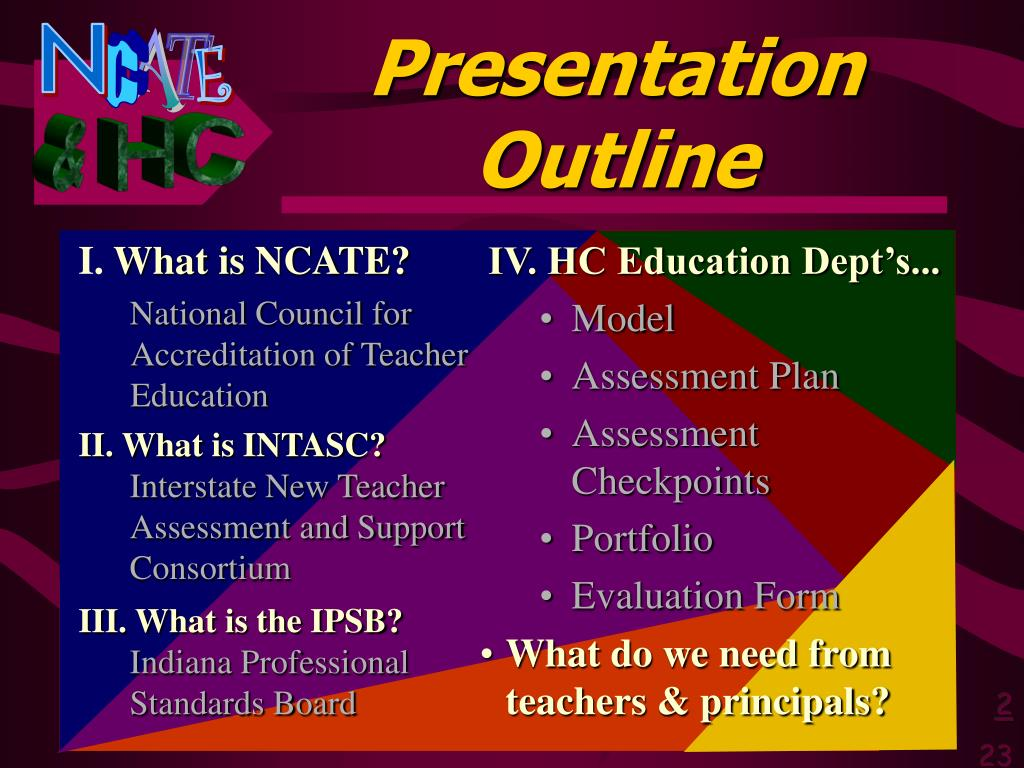 IV. HC Education Dept's...
