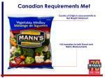 canadian requirements met