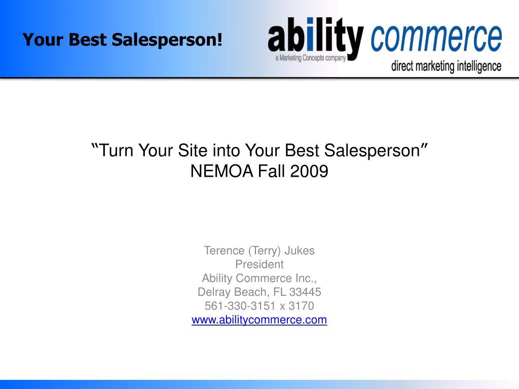 your best salesperson