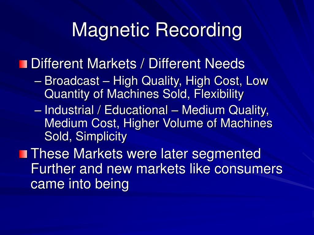 Magnetic Recording
