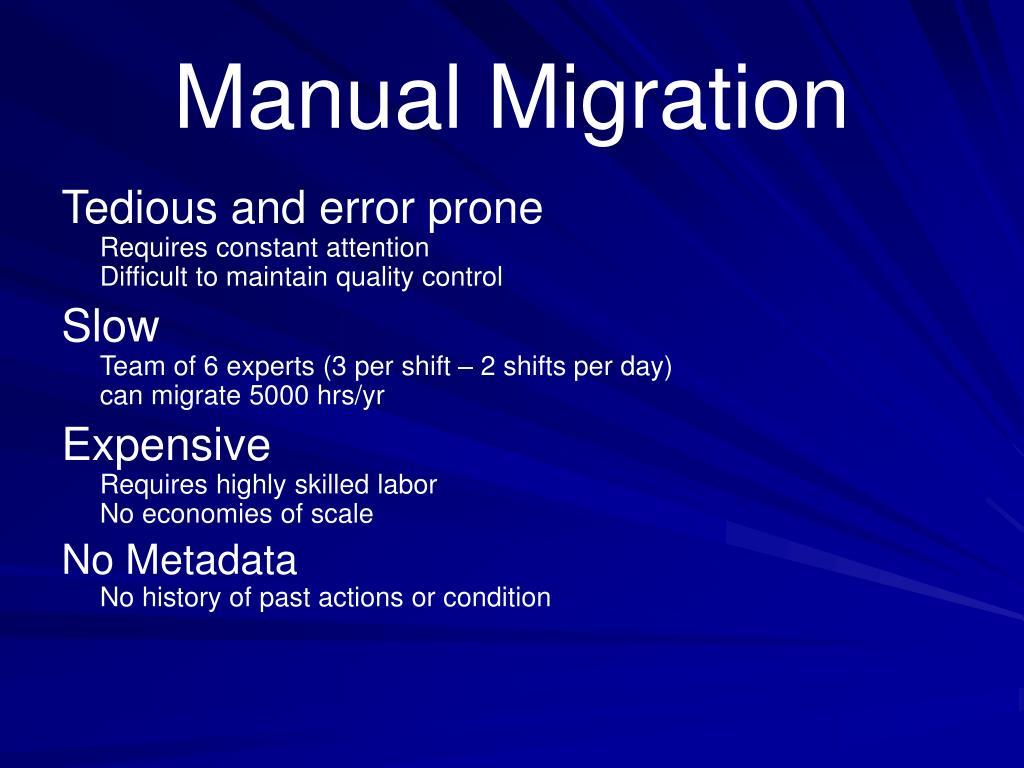Manual Migration
