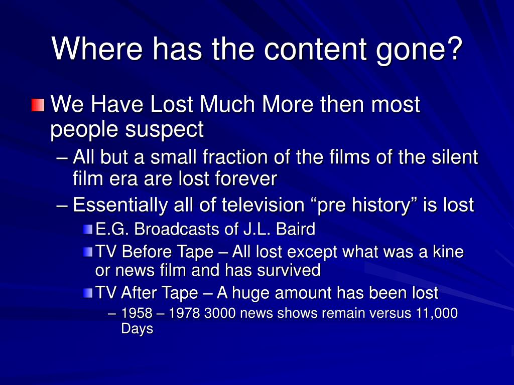 Where has the content gone?