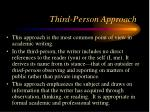 third person approach
