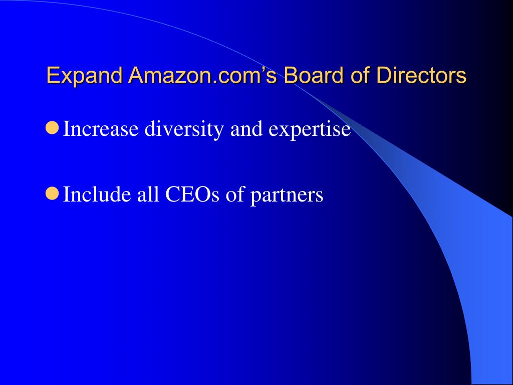 Expand Amazon.com's Board of Directors