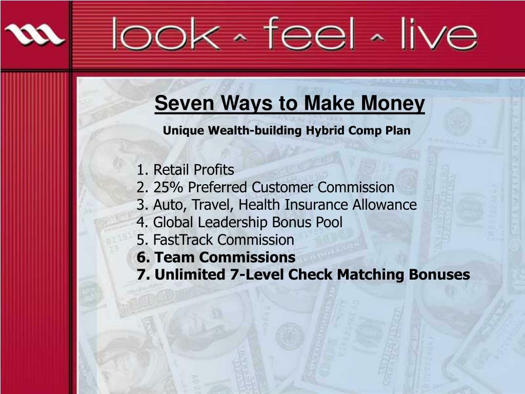 Seven Ways to Make Money