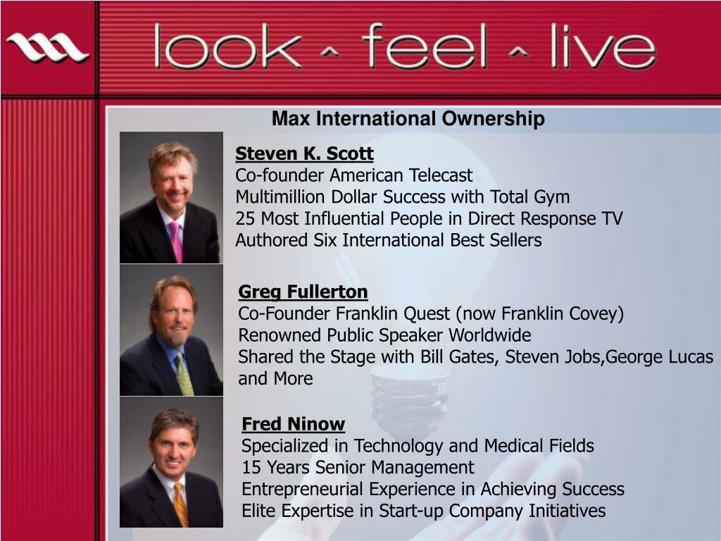 Max International Ownership
