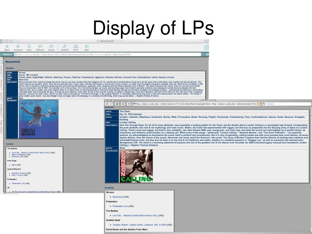 Display of LPs