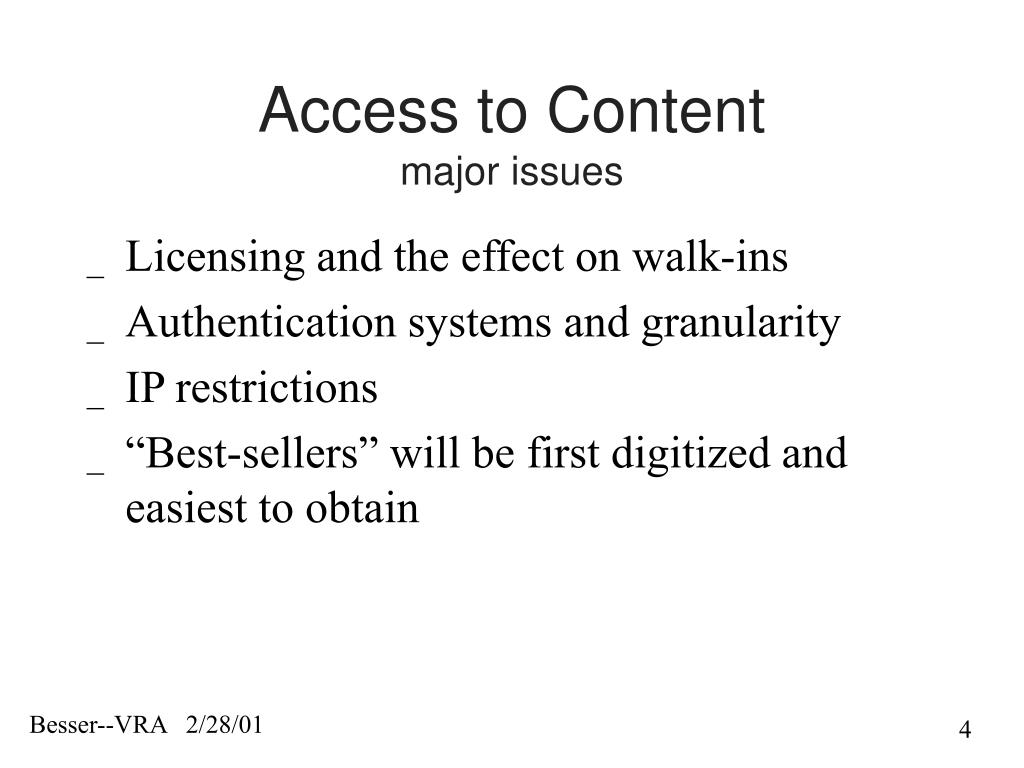 Access to Content