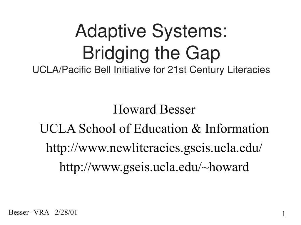 Adaptive Systems: