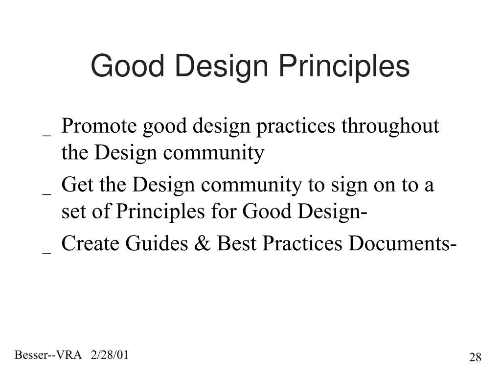Good Design Principles
