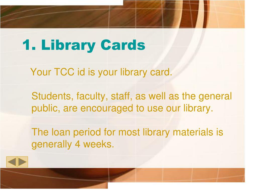 1. Library Cards