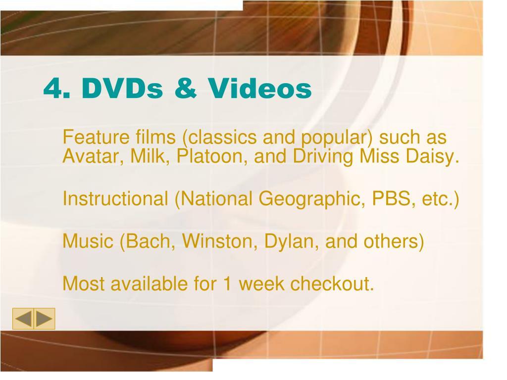 4. DVDs & Videos