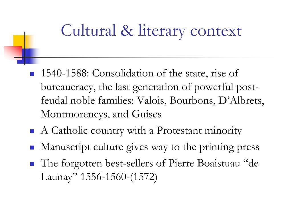 Cultural & literary context
