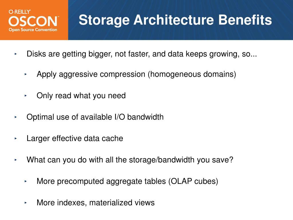 Storage Architecture Benefits