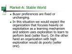 market a stable world