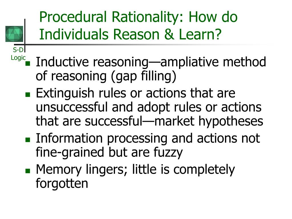 Procedural Rationality: How do Individuals Reason & Learn?