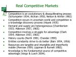real competitive markets