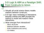 s d logic abm as a paradigm shift from constructs to actors
