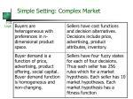 simple setting complex market