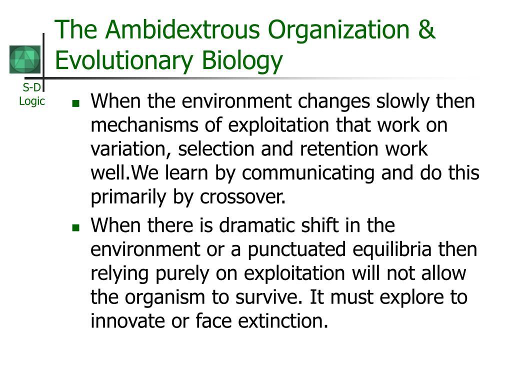 The Ambidextrous Organization & Evolutionary Biology