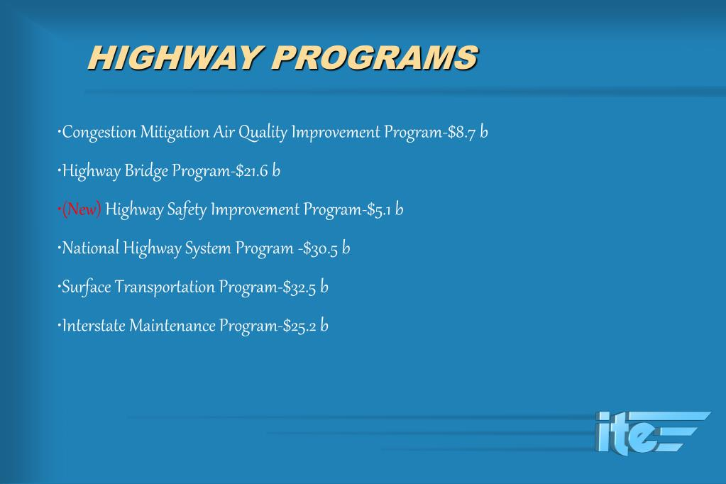 HIGHWAY PROGRAMS