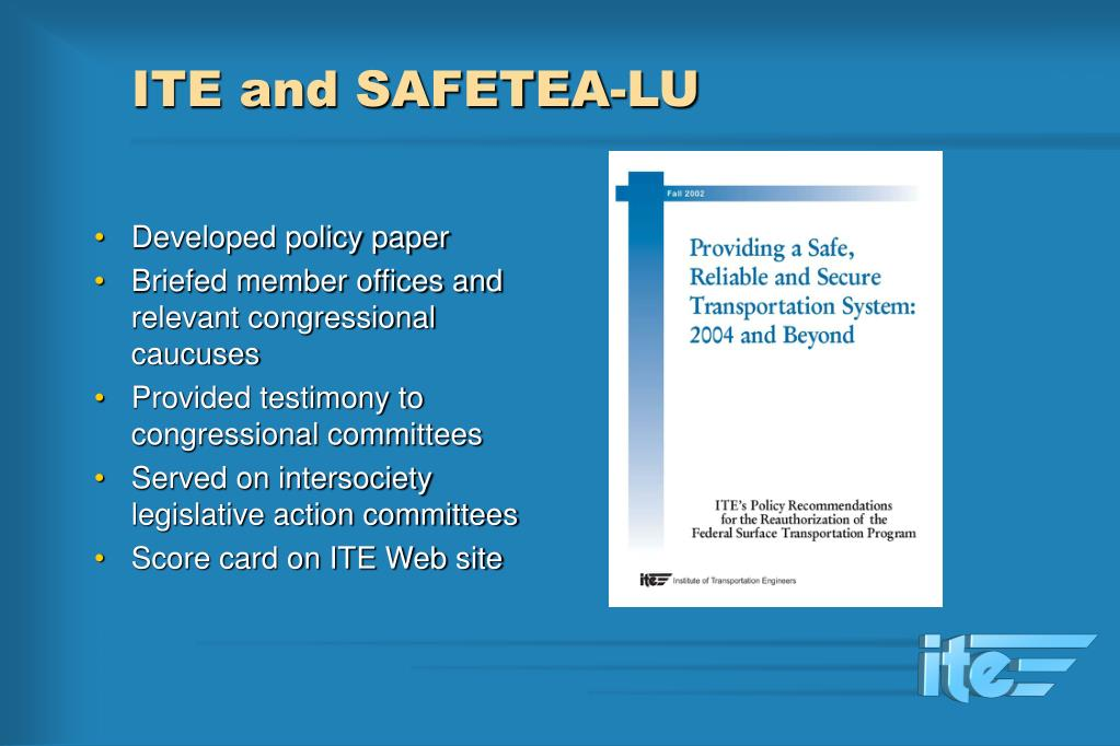 ITE and SAFETEA-LU