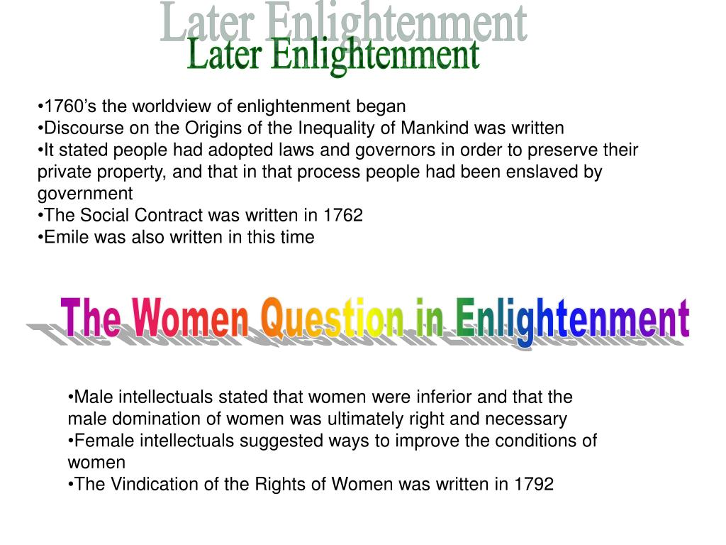 Later Enlightenment