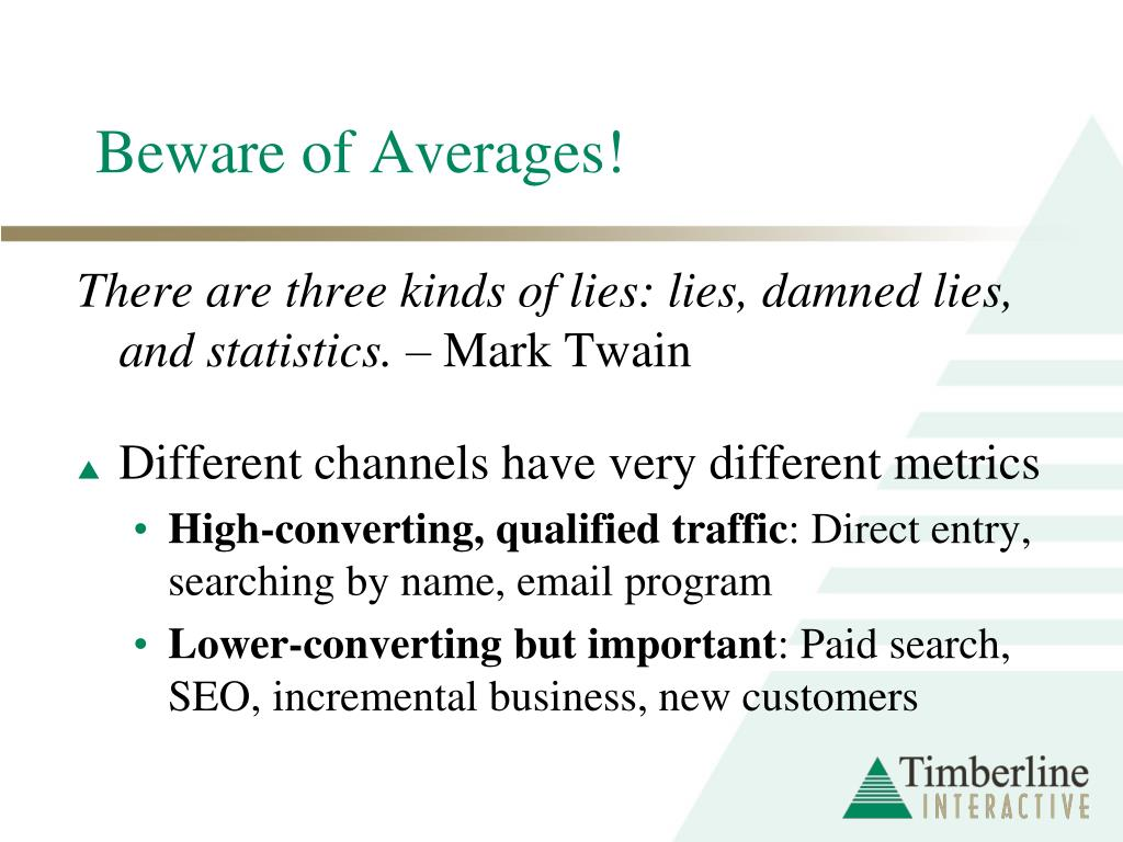 Beware of Averages!