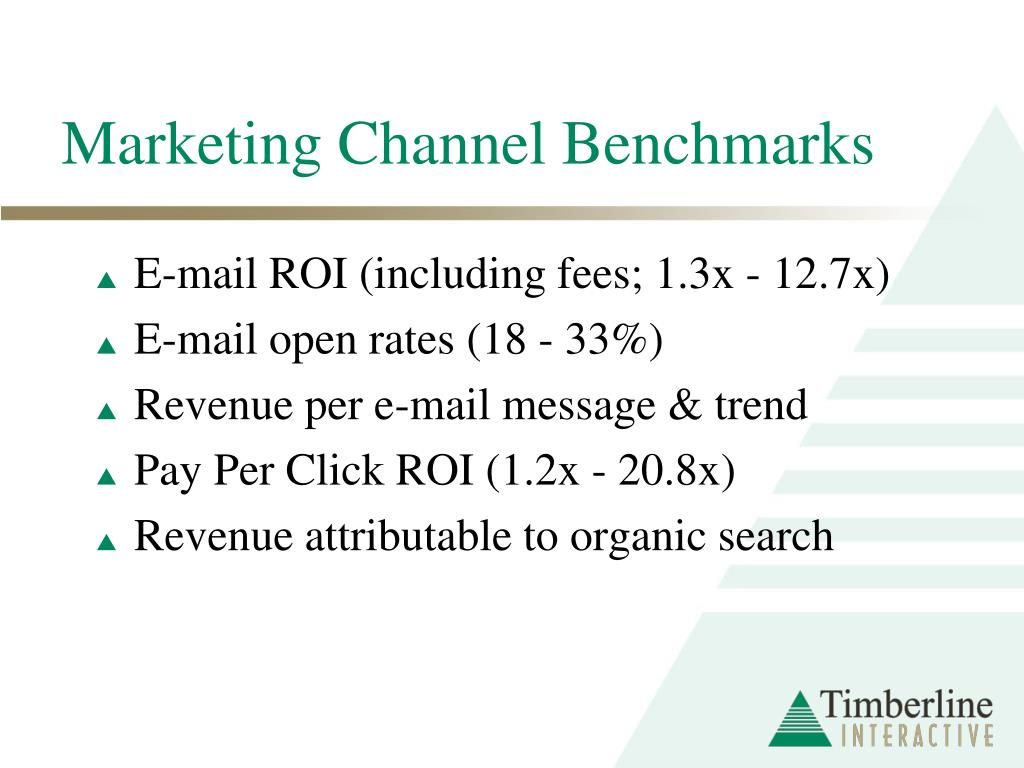 Marketing Channel Benchmarks
