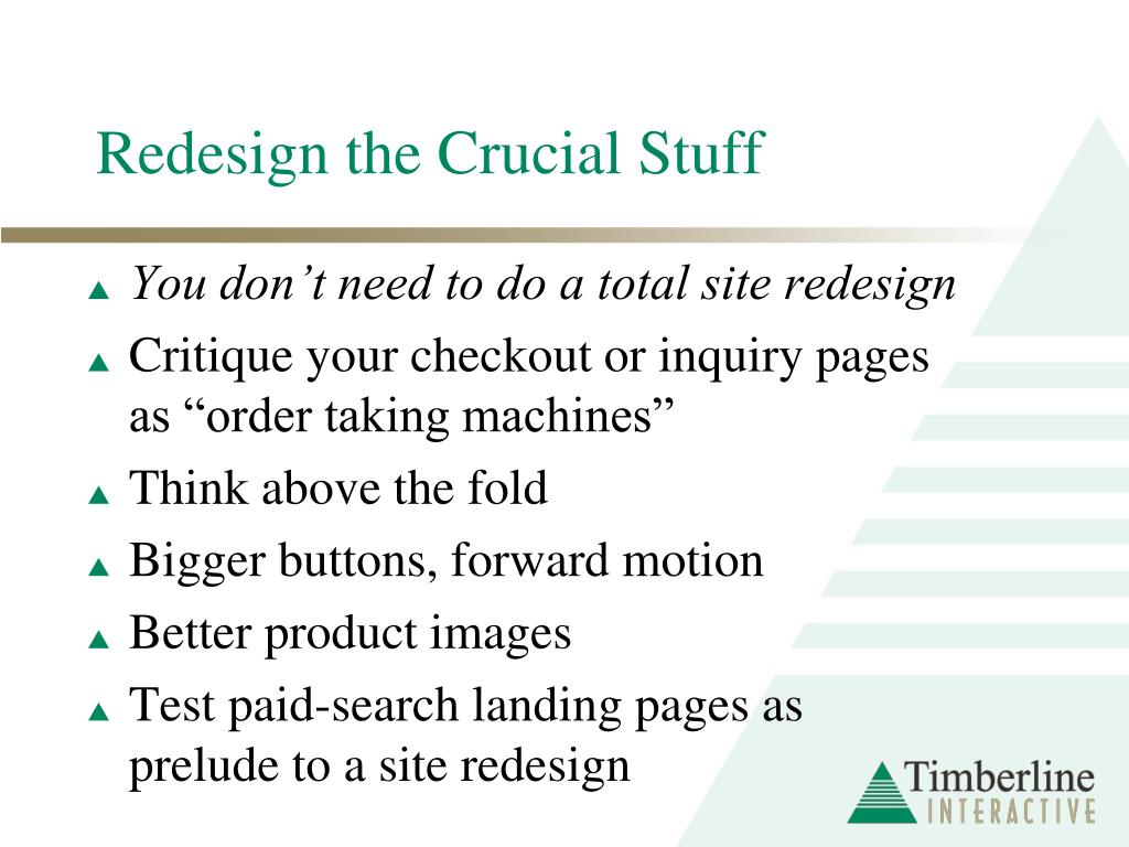 Redesign the Crucial Stuff