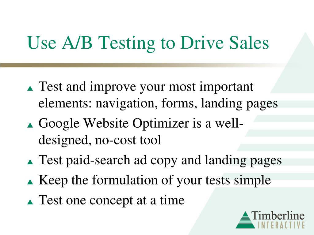 Use A/B Testing to Drive Sales