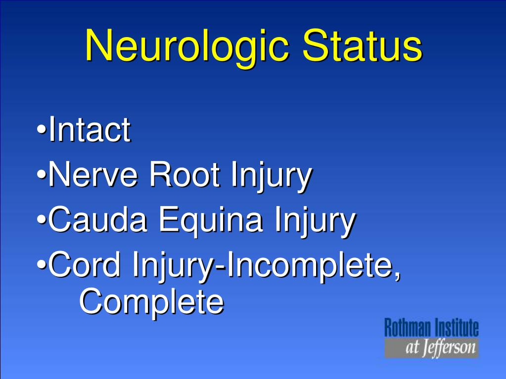 Neurologic Status