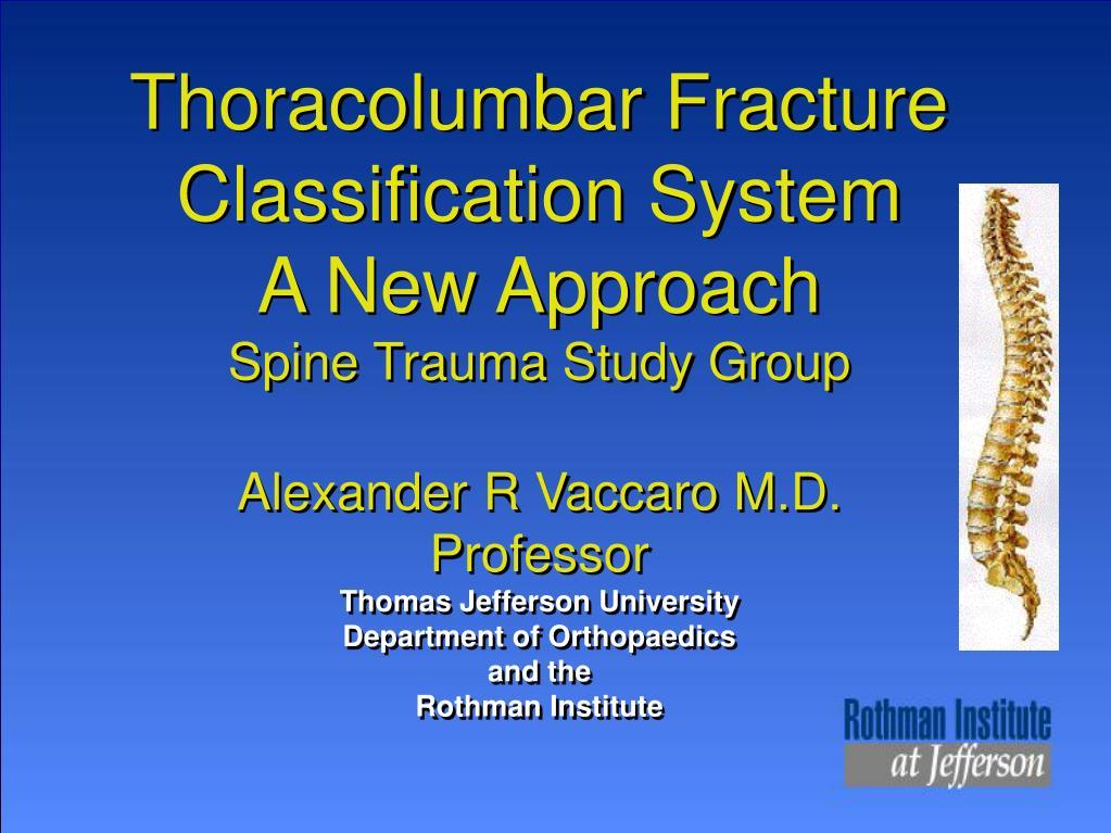 Thoracolumbar Fracture