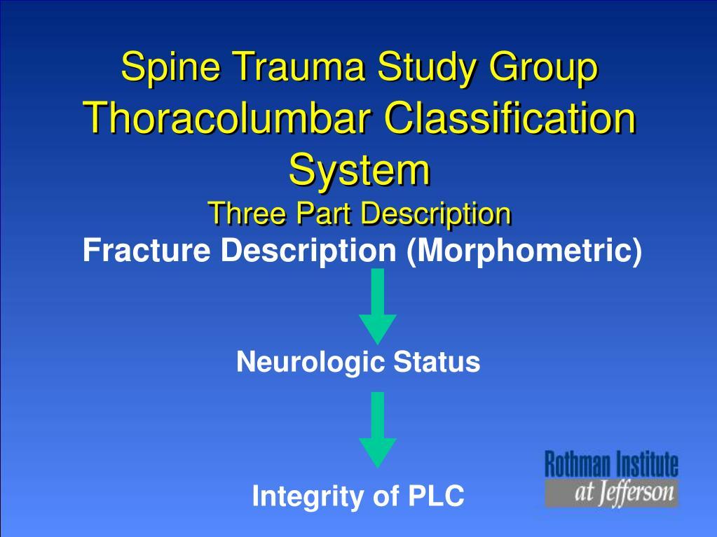 Spine Trauma Study Group
